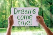 Dreams Come True card — Stock Photo