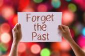 Forget the Past card — Stock Photo
