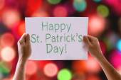 Happy St Patricks Day card — Stock Photo