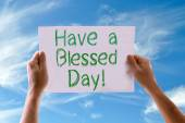 Have a Blessed Day card — Stock Photo