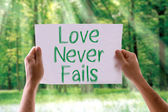 Love Never Fails card — Stock Photo