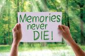 Memories Never Die card — Stock Photo