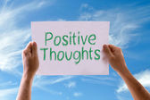 Positive Thoughts card — Stock Photo