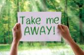 Take Me Away card — Stock Photo