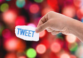 Tweet piece of paper — Stock Photo
