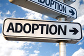 Adoption direction sign — Stock Photo