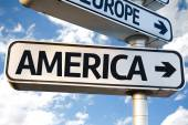 America direction sign — Stock Photo