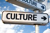 Culture direction sign — Stock Photo