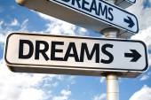 Dreams direction sign — Stock Photo