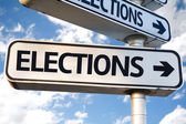 Elections direction sign — Stock Photo
