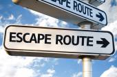 Escape Route sign — Foto Stock