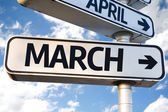 March road sign — Stock Photo
