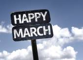 Happy March sign — Stock Photo