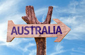 Australia wooden sign — Stock Photo