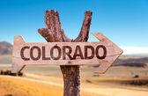 Colorado wooden sign — Stock Photo