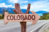 Colorado wooden sign — Stock Photo
