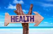 Health wooden sign — Stock Photo