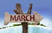 March sign with arrow — Stock Photo