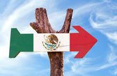 Mexico wooden sign — Stock Photo