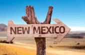 New Mexico wooden sign — Stock Photo