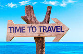 Time to Travel wooden sign — Stock Photo