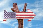 United States Flag sign — Stock Photo