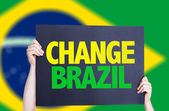 Change Brazil card — Stock Photo