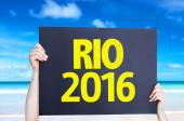 RIO 2016 card — Stock Photo