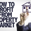 Text: How to Profit From Property Market — Stock Photo #69399257