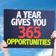 A Year Gives You 365 Opportunities card — Stock Photo #69399651