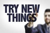 Text: Try New Things — Stock Photo