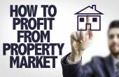 Text: How to Profit From Property Market — Stock Photo