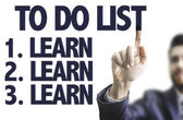 Text: To Do List - Learn — Stock Photo