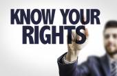 Text: Know Your Rights — Stock Photo