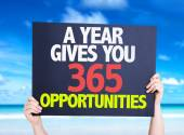 A Year Gives You 365 Opportunities card — Stock Photo