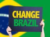 Change Brazil card — Stock Photo