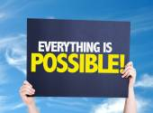 Everything is Possible card — Stock Photo