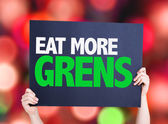 Eat more Greens card — Stock Photo