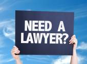 Need a Lawyer? card — 图库照片
