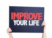 Improve Your Life card — Foto de Stock