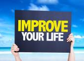 Improve Your Life card — Stok fotoğraf