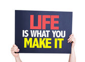 Life Is What You Make It card — Stock Photo