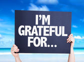 I'm Grateful For... card — Stock Photo