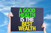 A Good Health is the Best Wealth card — Stock Photo