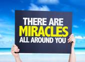 There Are Miracles All Around You card — Stock Photo
