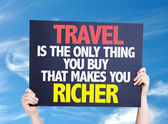 Travel is the Only Thing.. card — Stock Photo