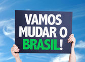 Let's Change Brazil card — Stock Photo