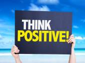 Think Positive card — Stock Photo