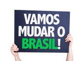 Let's Change Brazil card — Stock Photo