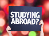 Studying Abroad? card — Stock Photo